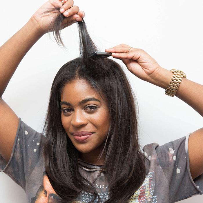 начес волос для объема волос